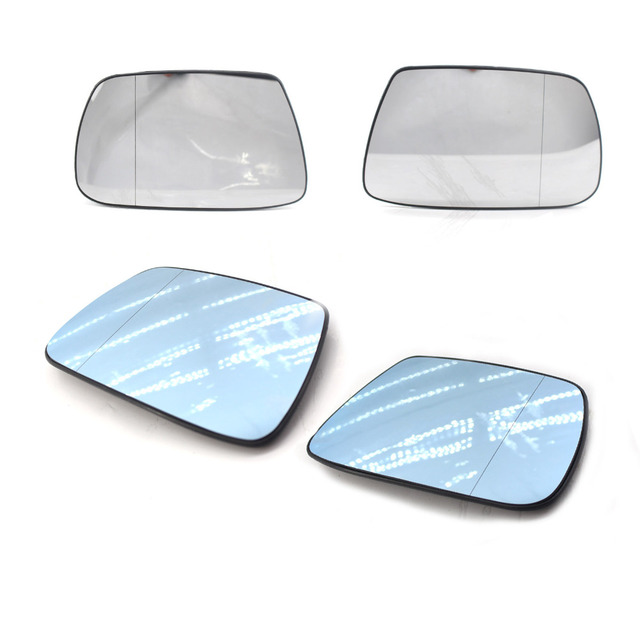 Right/Left Side Clear Heated Electric Wing Mirror Glass For Jeep Grand Cherokee 2005-2010 Real Glass Blue Car rearview mirror