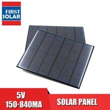 5VDC 태양 전지 패널 전원 은행 150 160 200 250 500 840 mA 태양 전지 패널 5V 미니 태양 전지 휴대 전화 충전기 휴대용