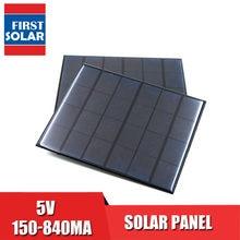 Panel de alimentación Solar portátil, 5VDC, 150, 160, 200, 250, 500, 840 mA, 5V