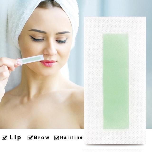 24pcs Professional Hair Removal Wax Strips Waxing Wipe Sticker For