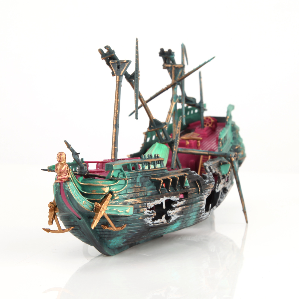 Sunken Pirate Ship Aquarium Decor Golfclub