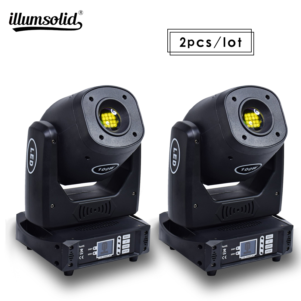 Super Hign Brightness 100W Moving Head Stage Light Professional DJ Stage Party Disco Lights 2pcs/lot