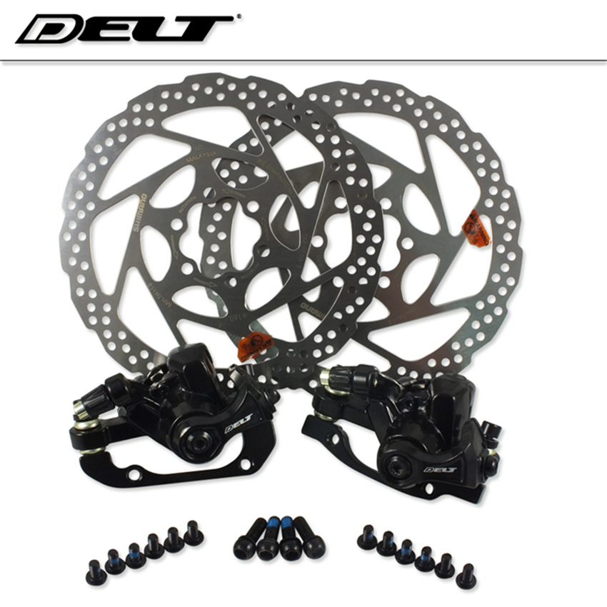 1Set Bicycle disc brake MTB DH Mountain cycling cycle  bike Mechanical rotors 160mm FOR Shimano brake Pads bike road bicycle alloy mechanical disc brake set rear include 160mm centerline rotor 2 brake calipers 2 g3 disc rotors