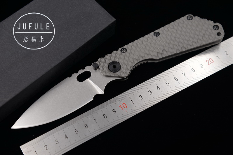 JUFULE made SMF TC4 Titanium handle D2 blade Copper washer Folding hunt camping outdoor Tactical multi EDC Tool kitchen knife hx small mercenary survival hunting knife d2 steel blade fixed blade knife straight camping knives multi tactical hand tools