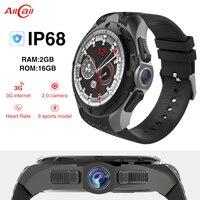 Original ALLCALL W2 MTK6580 Quad core 16GB+2GB 2MP Camera 1.39 Inch Nano SIM WIFI BT4.0 GPS IP68 Waterproof 3G Smart Watch Phone