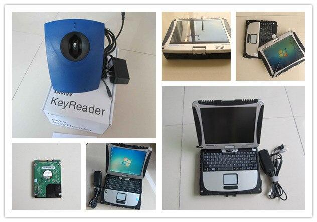 Инструменты для программирования автомобильных ключей, автоматический считыватель ключей для bmw с ноутбуком cf19, CF 19, toughbook, сенсорный экран,