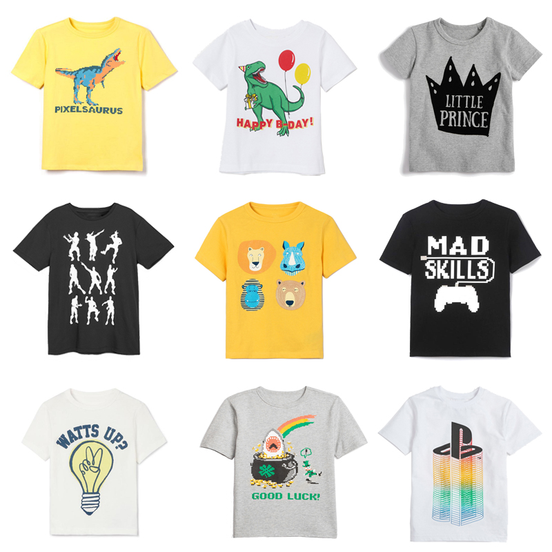 2019 summer boys t shirt toddler girl tees <font><b>dinosaur</b></font> t-shirt for girls cotton children's <font><b>tshirts</b></font> for boy child shirts kids tops image
