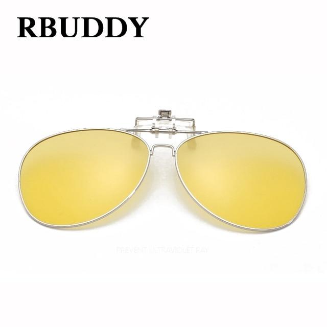 1d75732f14 RBUDDY Clip On Sunglasses Lens Polarized Men Mirror Driving Oval Night  Vision Optical Clip Sun Glasses Women Oculos Gafas De Sol