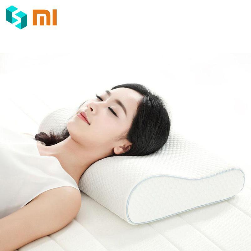 Original Xiaomi almohada Mijia 8H sensación fresca memoria de rebote lento almohadas de algodón H1 Super suave antibacteriano cuello apoyo almohadas-in control remoto inteligente from Productos electrónicos    1