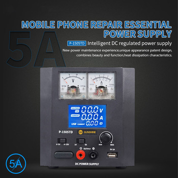 1505TD Intelligent DC Regulated Power Supply Phone Repair Voltage Regulator 15V 5A DC Power Supply With 5V 2A USB Charging Port