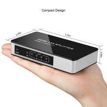 4 k uhd hdmi dividir 1x4 1x8 1 entrada 4/8 suporte de saída hdmi 2.0 hdcp 2.2 hd divisor repetidor hub caixa de interruptor para hdtv ps3 dvd