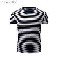 T Shirt Men Clothing Hot Selling 2018 Summer Plus Size Stripped Fashion Short Sleeves For Male