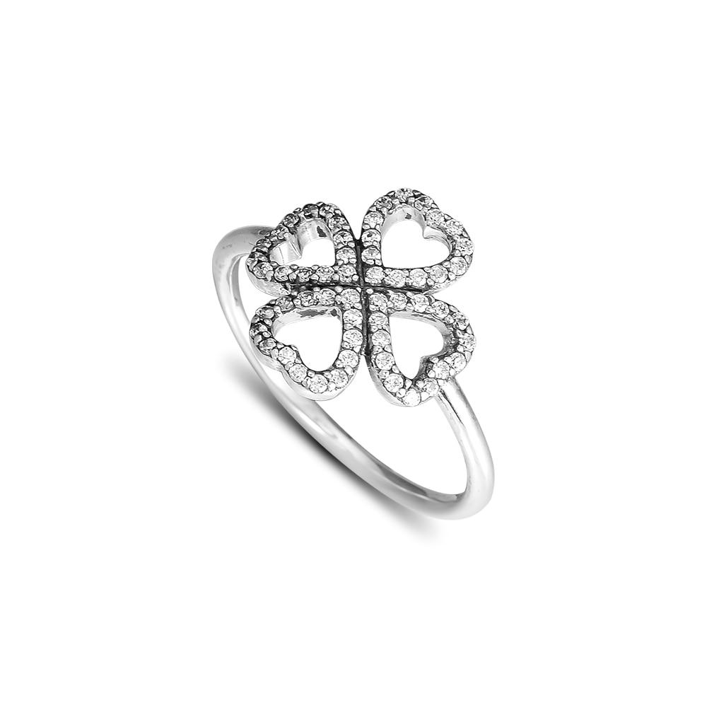 CKK 925 стерлінгового срібла пелюстки любові кільця для жінок Оригінальні ювелірні вироби рішень ювілей подарунок