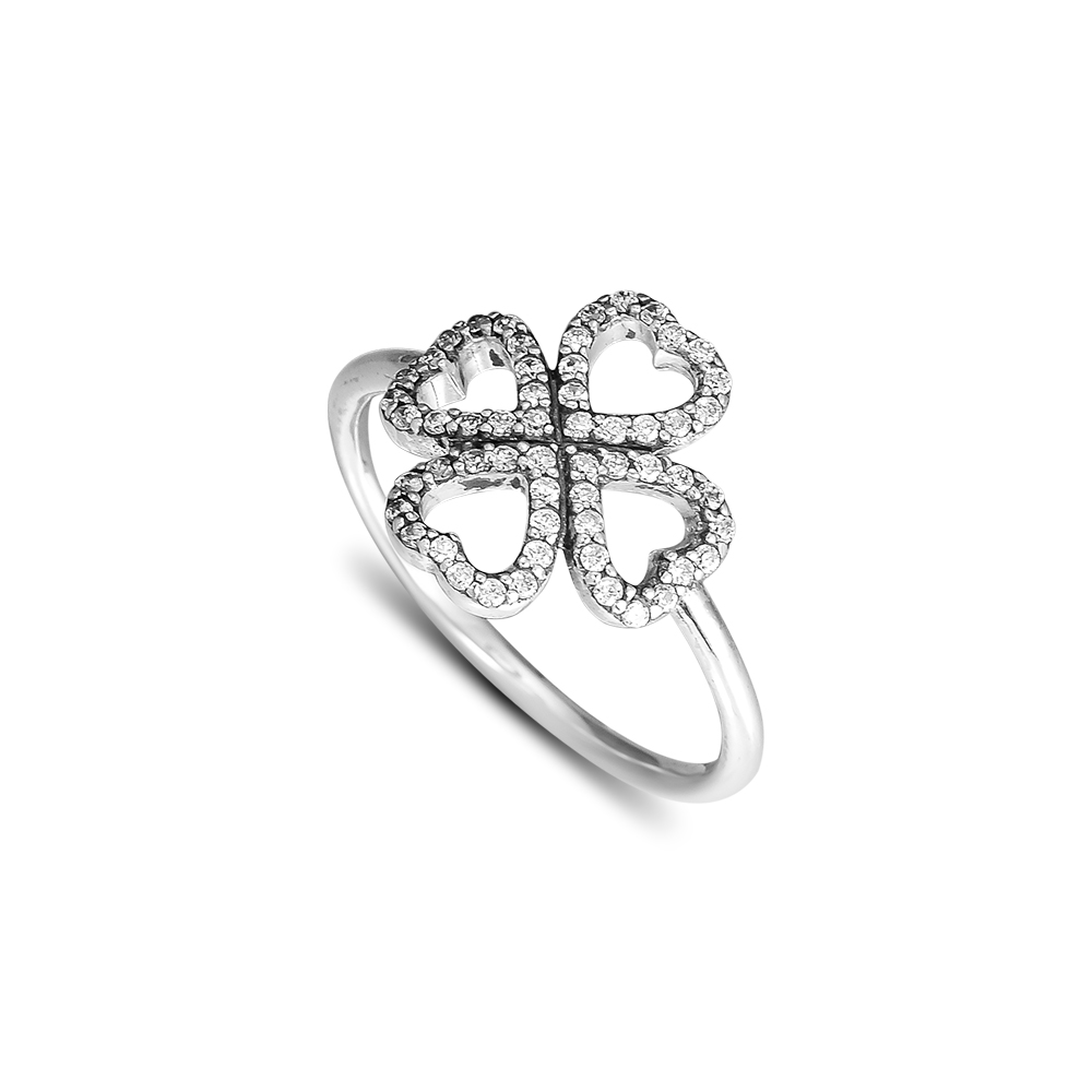 CKK 925 ստերլինգ արծաթե ծաղիկ սիրող օղակներ կանանց համար Բնօրինակ նորաձևության զարդեր տարեդարձի նվեր պատրաստելու համար