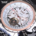 Men Watch Top Brand Luxury JARAGAR Fashion Big Dial Full Stainless Steel Band Automatic Mechanical Tourbillon Watch Men