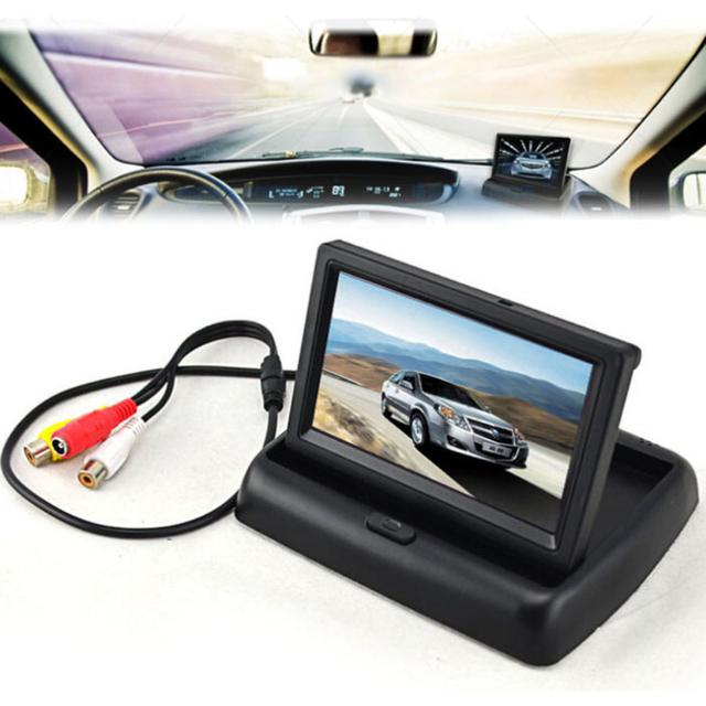 """Chegada nova 4.3 """"TFT LCD Dobrável Monitor Para Sistema de Visão Traseira Do Reverso Do Carro Câmera GPS DVD"""