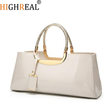 2019 Women Evening Bag Fashion Light Rubber Patent Leather Elegant Handbag Shoulder Wedding Bridal Bag Banquet Bolsa