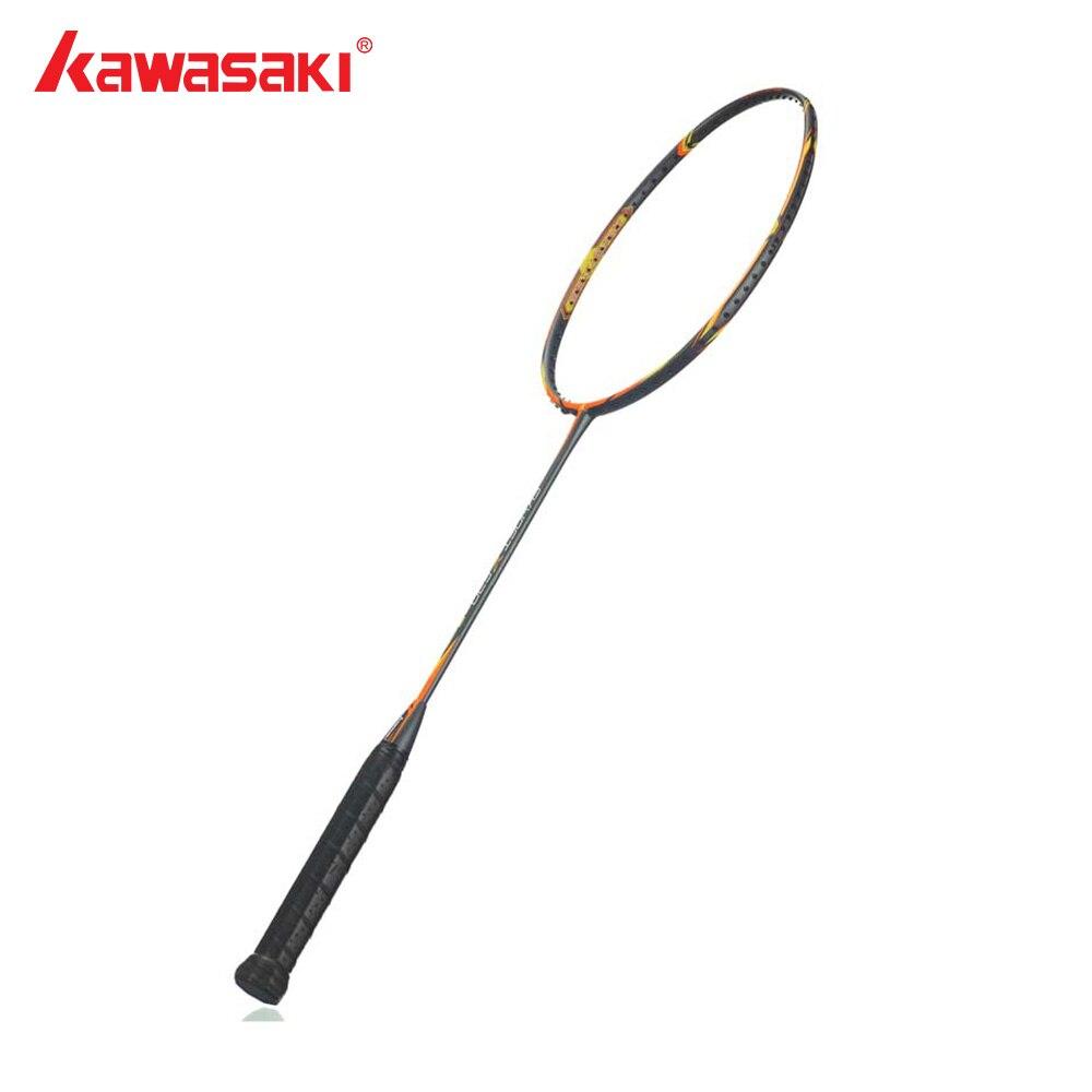 Kawasaki Brand Offensive Type Carbon Fiber Badminton Rackets 18~28 lbs Oversize Frame Badminton Racquets Skynet X530