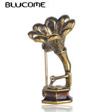 Женская Брошь в виде граммофона blucome брошь форме искусственной