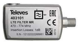 Filtro LTE 4G-LTE F канал 21-60