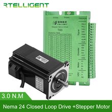 SALE Nema 23 24 3N.m Closed Loop Stepper Motor kits 424.84Oz-in Nema23 24 Stepper Motor and Drivers/ Servo Motor kits Rtelligent