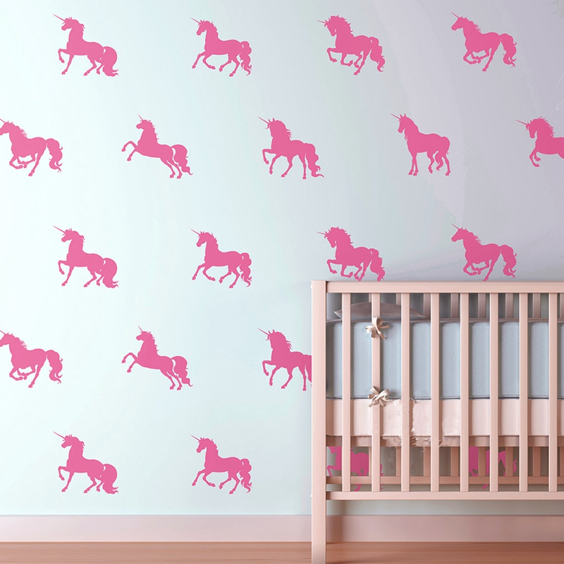 online buy wholesale unicorn wall stickers from china unicorn wall decal pattern horse fabric wall decal stickers