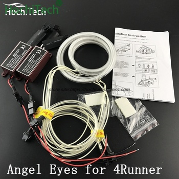 for Toyota 4Runner 2006-2009 car styling 4pcs White Headlight Halo Rings CCFL Angel Eyes Light Kit daytime light DRL image