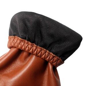 Image 5 - Nova moda luvas de couro, couro genuíno, marrom, feminino luvas de couro curto parágrafo, outono moda luvas curtas, senhoras luvas