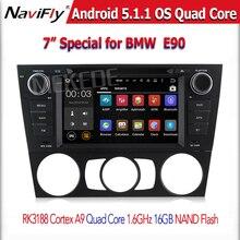 5.1.1 androide Quad core HD Del Coche DVD GPS de Radio estéreo Para E90 E91 E92 E93 con wifi 3G GPS SWC USB AUDIO 1024*600 de la pantalla