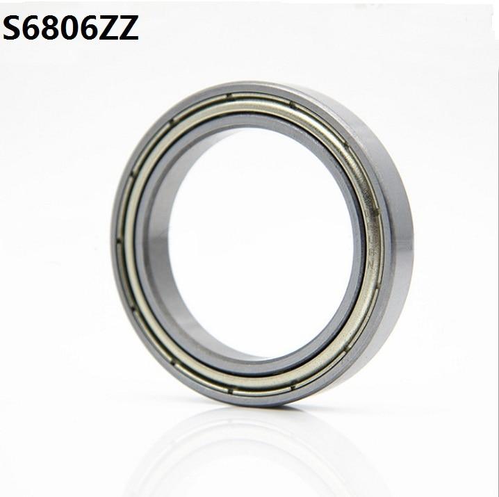 10pcs/lot ABEC-5 S6806ZZ S6806 ZZ Stainless Steel Bearing 30*42*7 Mm Deep Groove Ball Bearing 30x42x7 Mm 6806ZZ 6806