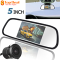 "Best 5"" TFT LCD 480 X 272 Car Monitors Reversing Rear View Roof Mount 16:9 Display  With 420TVL 18mm Lens Reverse Camera"