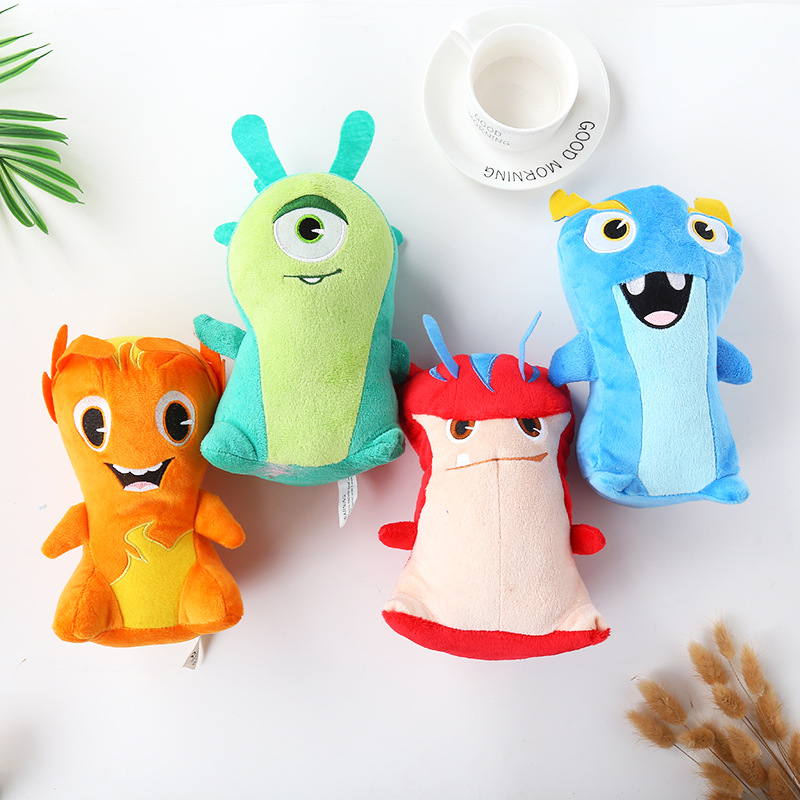 4pcs/lot 20cm Slugterra Plush Doll Toys Soft Stuffed Animals Toys For Kids Children Gifts