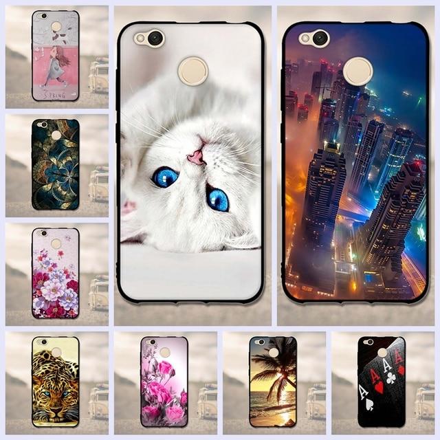 check out ace57 c7383 US $1.02 7% OFF 3D Pattern Case For Xiaomi Redmi 4X Case 5.0