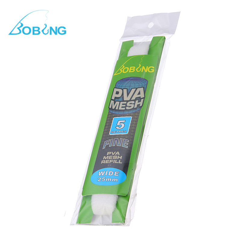 Environmental protect PVA fishing mesh Net Universal Refill 25MM/ 37MM Micromesh for Carp Fishing Tubes and Systems accessories