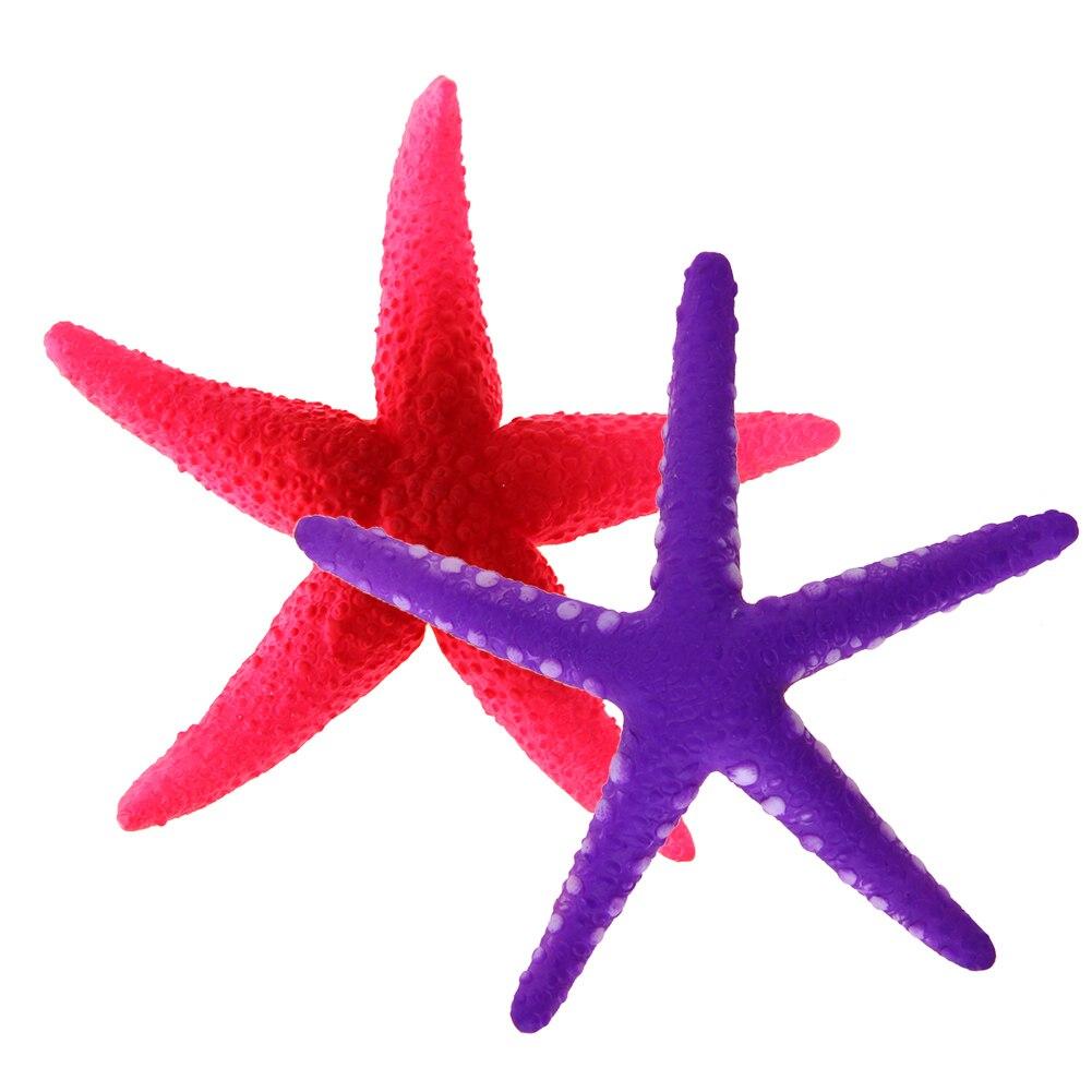 Glowing Plastic Artificial Starfish Aquatic Ornament Aquarium ...