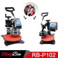 Plate Heat Press Machine Digital Swing Away Sublimation Printer Heat Transfer 10 Inch Plate 15cm Diameter Printing