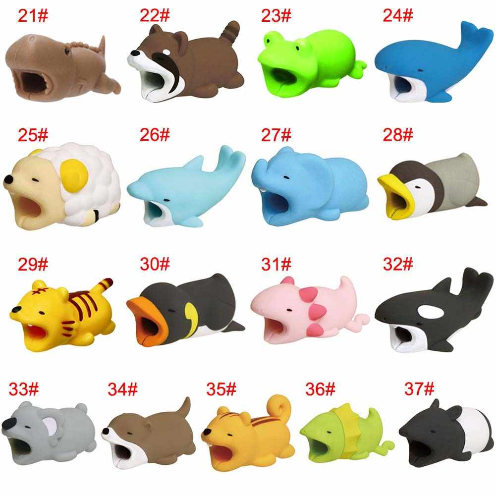 Cable Protector Cute Animal Shape Prevents Breakage Cable Protects for iPhone YE-Hot