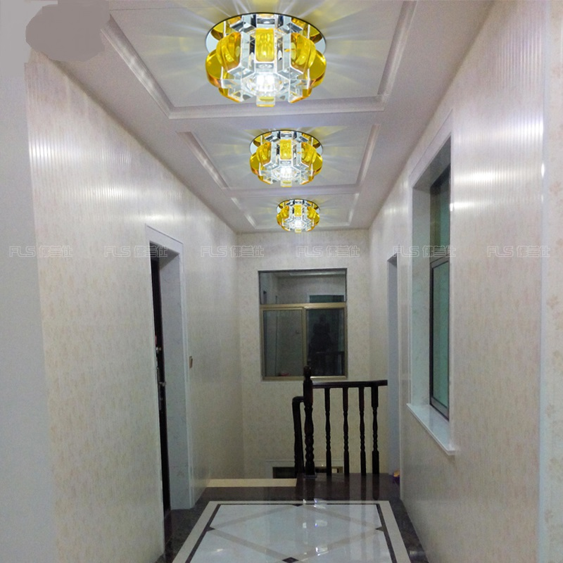 Creative Corridor Lamp Crystal Lamp Entrance Go Modern Minimalist Gallery  Lights LED Ceiling Lamp Hall Ceiling Lamps In Ceiling Lights From Lights ...