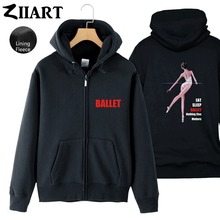 Ballet Dancer Life Eat Sleep Ballet Nothing Else Matters Girls Woman Full Zip Fleece Hooded Coat Jackets Autumn Winter ZIIART цена и фото