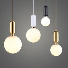 Скандинавский светодиодный подвесной светильник из матового стекла, промышленный подвесной светильник Handin, современный подвесной светильник для спальни, подвесной светильник для гостиной
