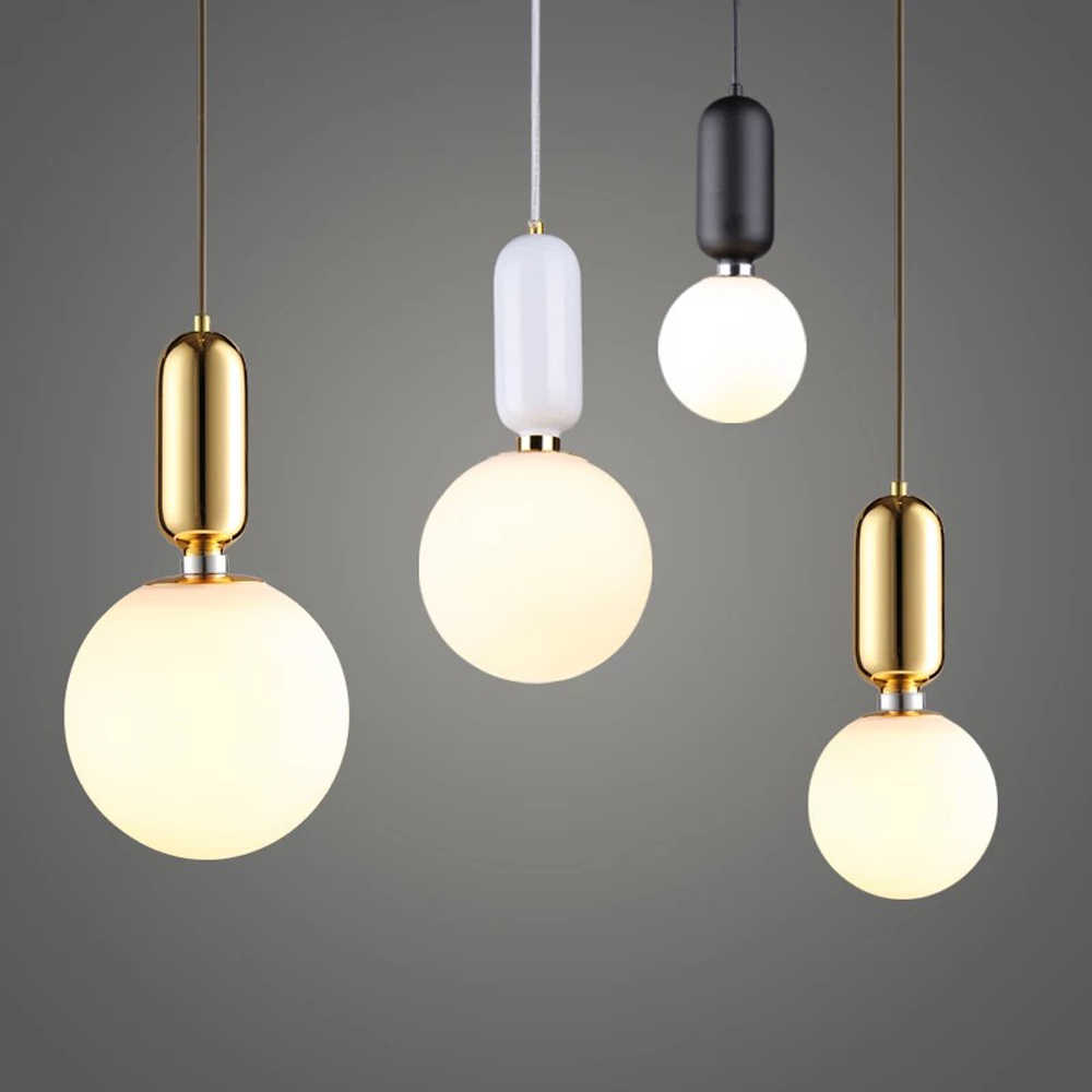 Hanglamp Led Design Nordic Led Pendant Lights Frosted Glass Industrial Handin Pendant Lamp Modern Bedroom Hanglamp Living Room Suspension Luminaire