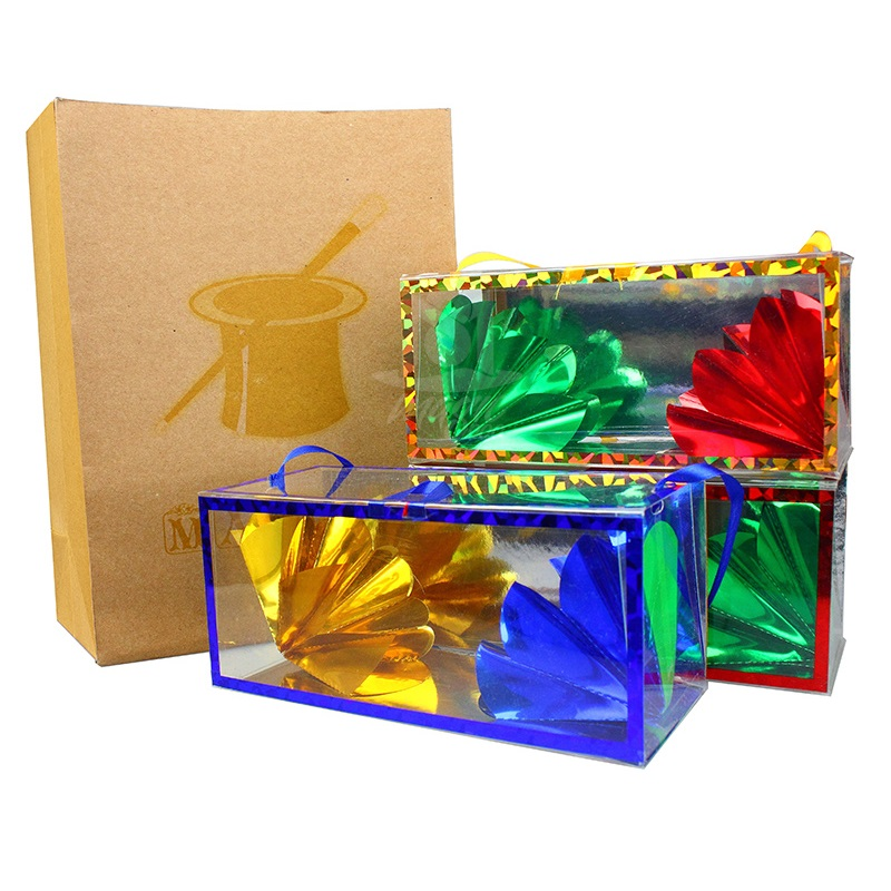 Medium Size Super Delux Paper Bag Appearing Flower From Empty Box Stage Magic Tricks Dream Bag Large Illusion Magic Kid Gifts