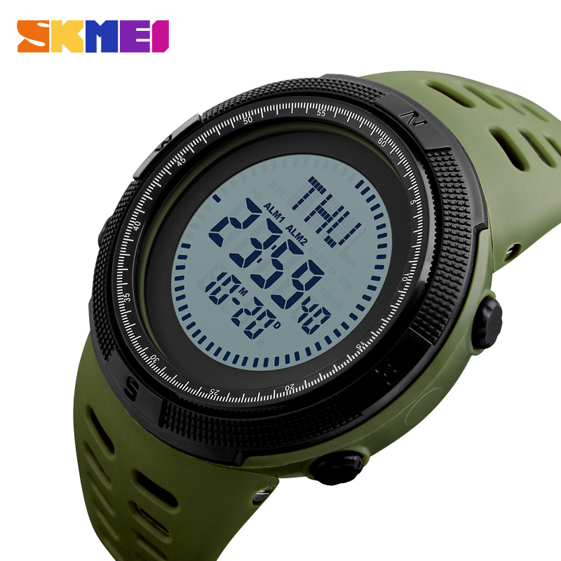 SKMEI Outdoor Compass Sports Watches Men LED World Time Watch Military Countdown Digital Wristwatches Male Relogio Masculino skmei sports watches men outdoor shock chrono military watch dual time waterproof led digital wristwatches relogio masculino