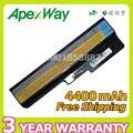 Apexway 6 células 4400 mah bateria do portátil para lenovo n500 g550 para ideapad g430 v460 z360 b460 l08s6y02