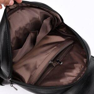 Image 5 - Fashion2018  Women Backpacks Womens Leather Backpacks Female school backpack women Shoulder bags for teenage girls Travel Back