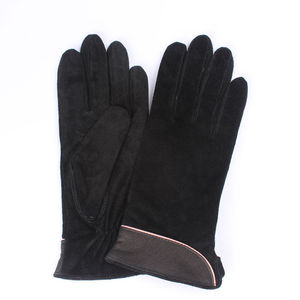 Image 5 - 2020 Brand New Fashion Women Genuine Suede Leather Fleece Gloves Winter Women Leather Gloves Female Lady Driving Leather Gloves