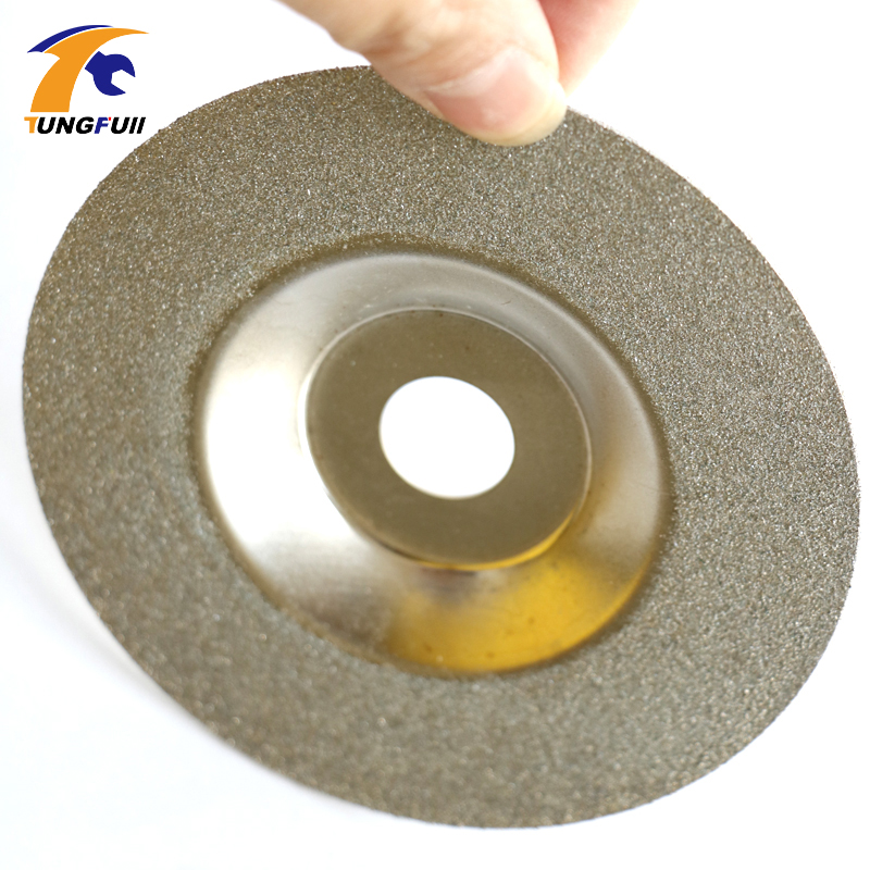 цена на Reduced Sparking Wheel Glass Diamond Grinding Disc 4 Angle grinder wheel cutting disc for stainless steel metal cutting