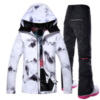 Gsou Snow Outdoor Ski Suit Women's Windproof Waterproof Thermal Snowboard Snow Jacket And Pants sets Skiwear Skating Clothes