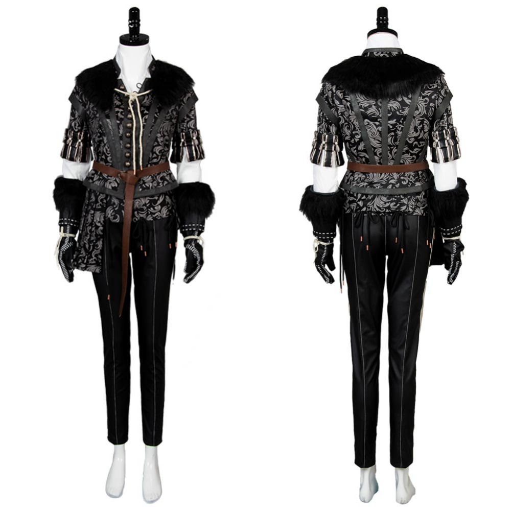 The Witcher 3 sauvage chasse Cosplay Halloween carnaval Yennefer tenue Cosplay Costume sur mesure ensembles complets