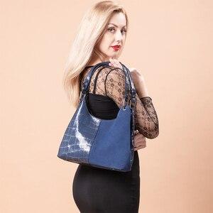 Image 3 - Realer women handbag luxury genuine leather Patchwork pattern cross body shoulder bag female messenger bag high quality for lady